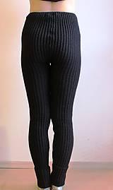 Nohavice - Akrylové kamaše dámske čierne - 7453905_