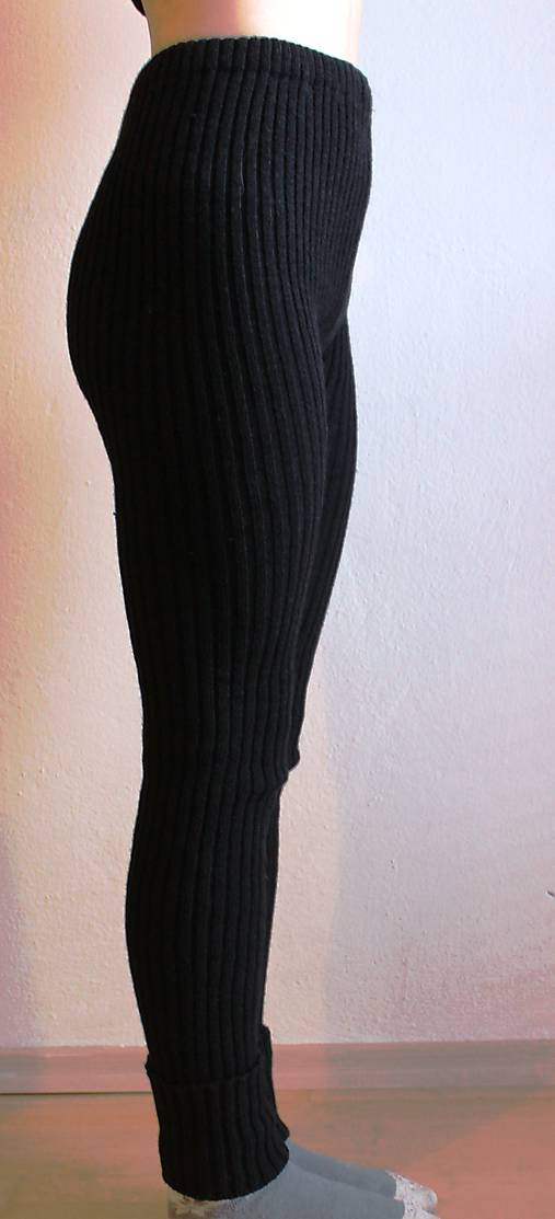 Akrylové kamaše dámske čierne
