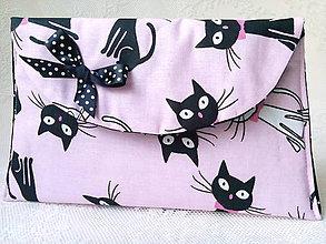 Taštičky - BonBon pochette (black&white cats) - 7457348_