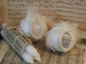 Dekorácie - Biela vianočná guľa - 7455925_