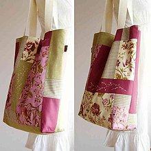 Veľké tašky - -30% Zošívaná prešívaná vyšívaná MAXI taška - 7455676_