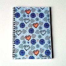 Papiernictvo - Blok MADEBOOK - srdce - 7457240_
