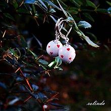 Náušnice - Malé zamilované - bílé - 7455089_