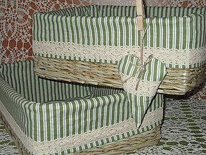 Košíky - Košíky - Natur v zelenej košieľke - 7454255_