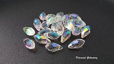 Korálky - Korálka kvapka bočný prevlek 12 mm - AB crystal - 7455739_