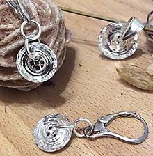 Sady šperkov - priehľadné náušnice a prívesok - 7457657_