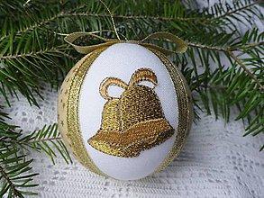 Dekorácie - Vianočná guľa so zvončekmi 1 - 7455756_
