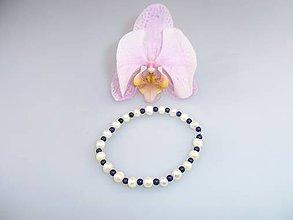 Náramky - pravé perly lapis náramok - 7456819_