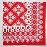 Papier - Servítka červený vzor - 7456991_