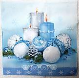 - Servítka - Modré vianoce - 7457032_