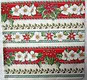 - Servítka - vianočná ruža-pásy - 7457108_