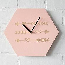 Hodiny - Nástenné hodiny Šípky - 7453127_