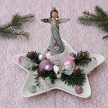 Dekorácie - Vianočný anjel - 7453635_