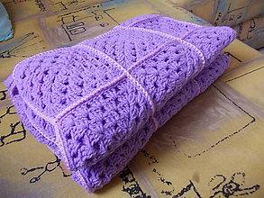 Textil - Háčkovaná detská deka 70x90cm - 7453124_