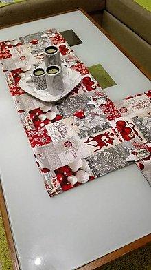 Úžitkový textil - Štóla vianočný patchwork - 7455183_