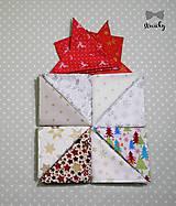 Doplnky - Pánsky vianočný kapesníček do saka šVecičky - 7456864_