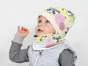 Detské čiapky - detský setík - 7452689_