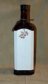 Nádoby - Poľovnícka fľaša Jeleň a laň s visačkou - 7457190_