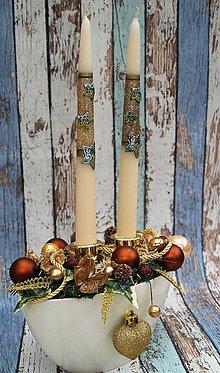 Svietidlá a sviečky - Svietnik 21 - vianočný - 7454303_