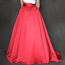 Sukne - Spoločenská zbieraná sukňa s vlečkou rôzne farby - 7453864_