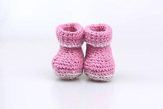 Topánočky - Ružové papučky zimné FINE - 7454121_