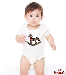 Detské oblečenie - Detské body - Horse (rodinné oblečenie) - 7453375_