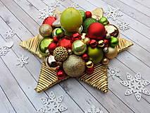 - Farebný vianočný svietnik hviezda - 7455978_