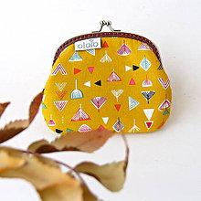 Peňaženky - Peňaženka Geometria na žltej - 7457430_