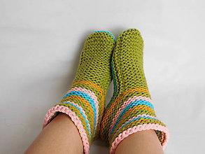 Obuv - vysoké papučky - ponožky (v.38-39) - 7454445_