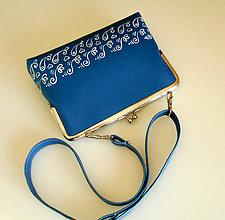 Detské tašky - malá modrotlačová - 7454585_