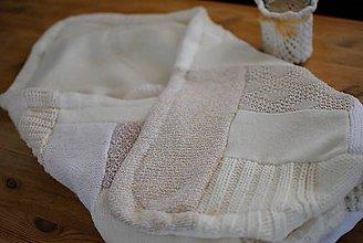 Textil - Patchworková dečka z malých kúskov - 7452825_
