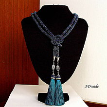 Náhrdelníky - Korálkový náhrdelník 589-0040 - 7460915_