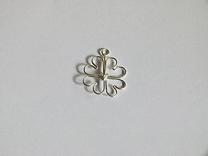 Iné šperky - Srdiečkový štvorlístok - 7458833_