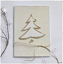 Papiernictvo - ❄Vianočná pohľadnica so stromčekom❄ - 7458240_