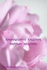 Papiernictvo - Narodeninový kalendár ružový - 7459621_