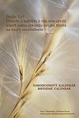 Papiernictvo - Narodeninový kalendár béžový - 7459668_