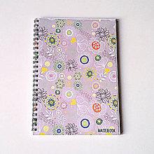Papiernictvo - Blok MADEBOOK - kvety - 7458221_