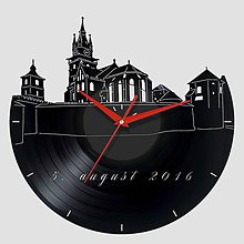 Hodiny - Kremnický zámok - vinylové hodiny - 7461738_