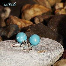 Náušnice - Malé zamilované - modré - 7458298_