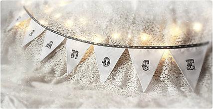 Tabuľky - vianočná girlanda - 7459046_