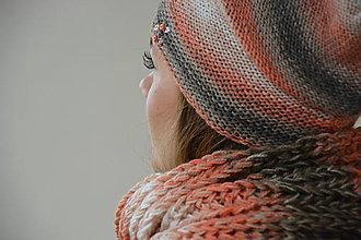 Čiapky - barevná melír - 7460900_