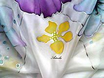 """Šatky - Hodvábna šatka """"pastelové kvety"""" - 7459938_"""