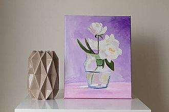 Obrazy - White roses - 7461353_