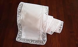 Úžitkový textil - Slávnostná štóla biela -  kocočka - 7461599_