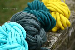 Materiál ručne robený - Extra hrubá chunky merino vlna - rôzne farby - 7460003_