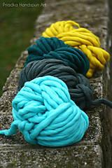 Materiál ručne robený - Extra hrubá chunky merino vlna - rôzne farby - 7460004_