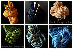 Materiál ručne robený - Extra hrubá chunky merino vlna - rôzne farby - 7460040_