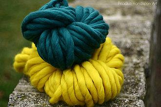 Materiál ručne robený - Extra hrubá chunky merino vlna - rôzne farby - 7460016_