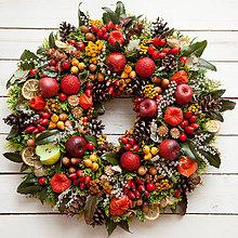 Dekorácie - Vianočný veniec na dvere - 7460742_