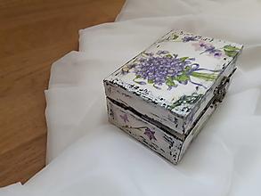 Krabičky - Šperkovnička - Voňavé fialky - 7462371_